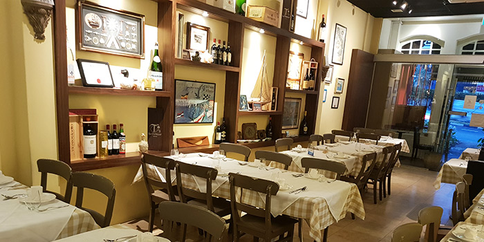 Interior of Trattoria Nonna Lina in Tanjong Pagar, Singapore