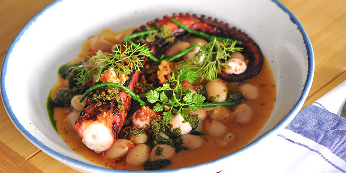 Octopus from Bayswater Kitchen at Marina at Keppel Bay, Singapore