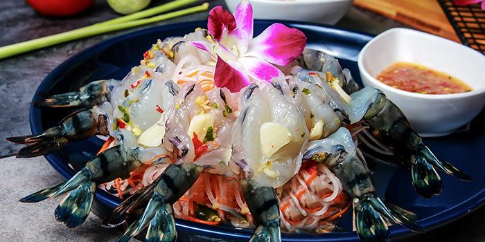 Prawn Sashimi Salad, Wong Chun Chun Thai Restaurant, Jordan, Hong Kong