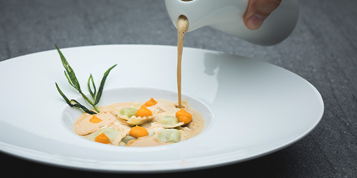 Lobster Bisque from Racines at Sofitel in Tanjong Pagar, Singapore
