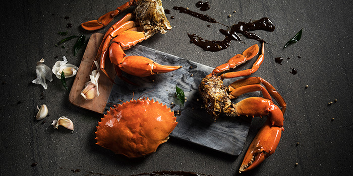 Wok Fried Black Pepper Crab from Racines at Sofitel in Tanjong Pagar, Singapore