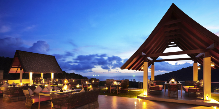 Restaurant-Atmosphere of Sizzle Rooftop Restaurant in Tritrang, Patong, Phuket, Thailand.