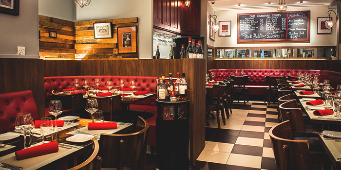 Interior of Taratata Bistrot serving French cuisine in Chinatown, Singapore