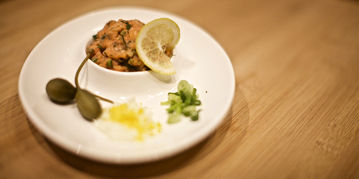 Salmon Tartare from Blu Meze in Dempsey, Singapore