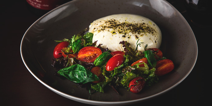 Burrata from Bistecca Tuscan Steakhouse in Robertson Quay, Singapore