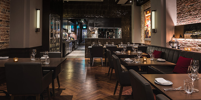Dining Area of Bistecca Tuscan Steakhouse in Robertson Quay, Singapore