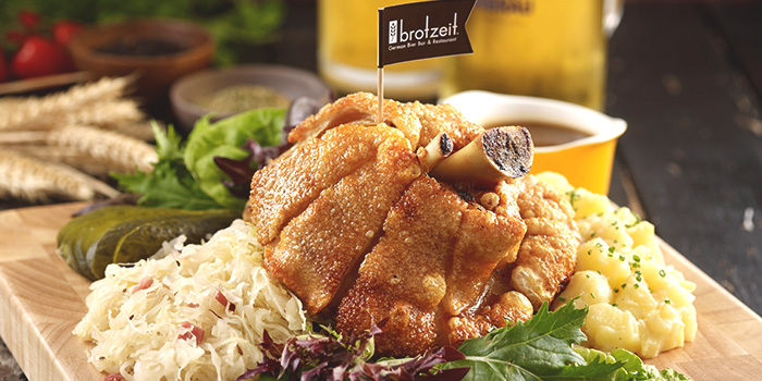 Crispy Oven Roasted Pork Knuckle from Brotzeit (Westgate) in Jurong, Singapore