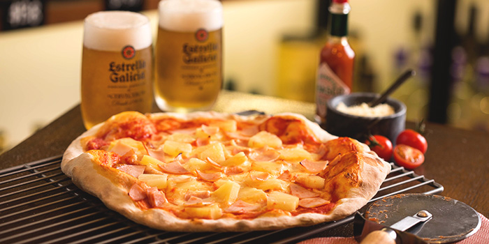 Hawaiian Pizza from Drinks & Co Bar in Club Street, Singapore