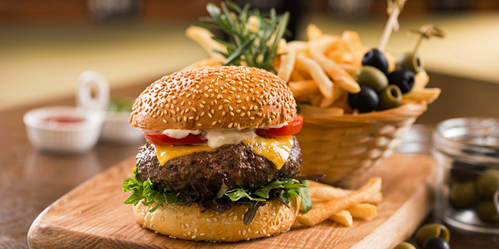 Wagyu Burger from Drinks & Co Bar in Club Street, Singapore