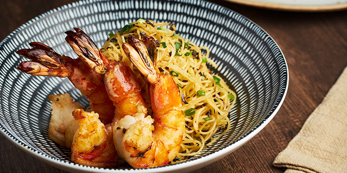 Tiger Prawn Capellini from Dusk Restaurant & Bar at Mount Faber in Habourfront, Singapore