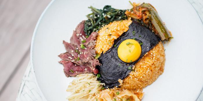 Korean Style Rice from Attitude Rooftop Bar & Restaurant at AVANI Riverside Bangkok Hotel