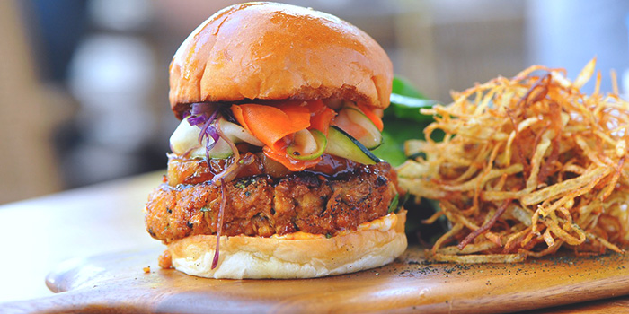 Tofu Teriyake Burger from Privé Orchard in Orchard Road, Singapore