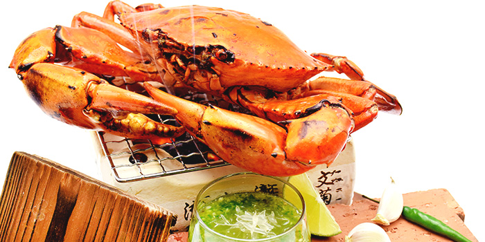 Charcoal Grilled Crab from Orient Palace 禧家 at Furama Riverfront Annex Building in Outram, Singapore