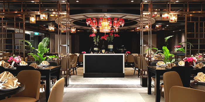 Interior of Orient Palace 禧家 at Furama Riverfront Annex Building in Outram, Singapore