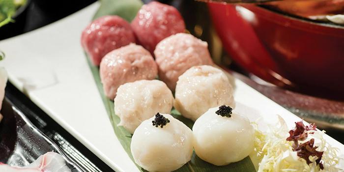 Pork & Mushroom Balls, Seansin Seafood Hotpot Experts, Jordan, Hong Kong