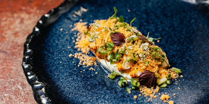 Seared Salmon from Attitude Rooftop Bar & Restaurant at AVANI Riverside Bangkok Hotel