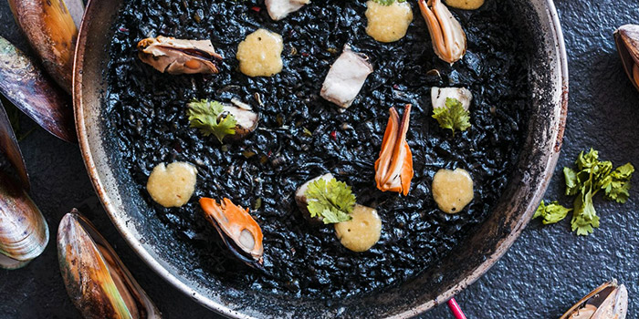 Squid Ink Paella from Amigos Restaurant & Bar in Tanjong Pagar, Singapore