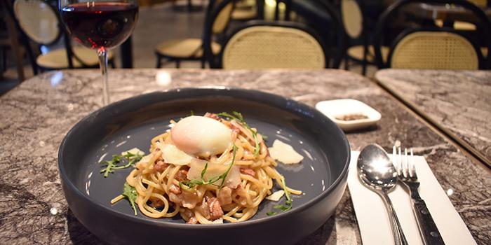 Spaghetti Carbonara, Eiffel Bistro, Taikoo Shing, Hong Kong