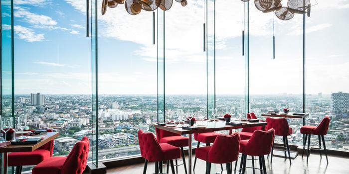 The View  from Attitude Rooftop Bar & Restaurant at AVANI Riverside Bangkok Hotel Charoennakorn Road Thonburi, Bangkok