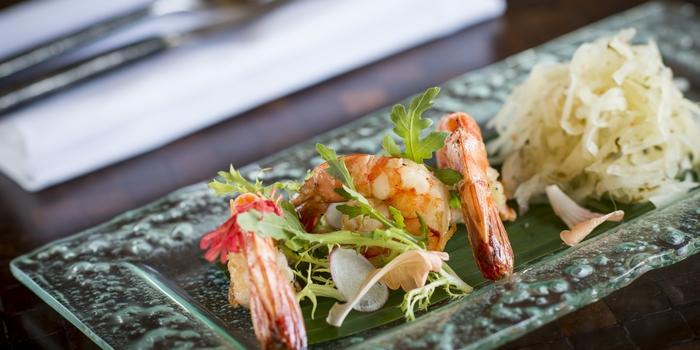 Dish 1 at The Restaurant, Chedi Club Ubud