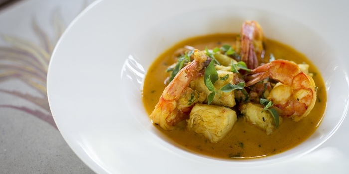 Dish 2 at The Restaurant, Chedi Club Ubud