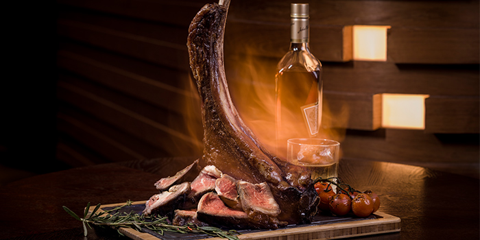Opus 1-1.2kg Whisky-aged Tomahawk from Opus Bar & Grill in Hilton Hotel along Orchard Road, Singapore