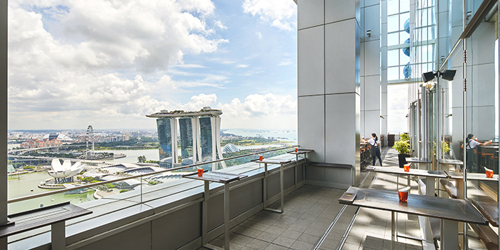 Terrace of LeVeL33 in Marina Bay Financial Centre in Marina Bay, Singapore