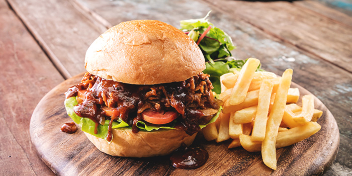 Pulled Pork Burger from Barossa at Esplanade Mall in Promenade, Singapore