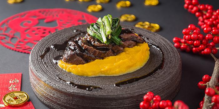 Beef Tenderloin Pumpkin Puree, CÉ LA VI Restaurant Hong Kong, Lan Kwai Fong, Hong Kong