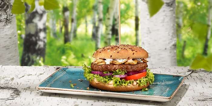 Burger Rind BIRKENWALD from Hans Im Gluck German Burgergrill in Orchard, Singapore