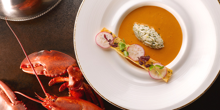 Lobster Bisque from Brasserie Les Saveurs at St. Regis Singapore in Tanglin, Singapore