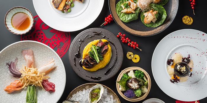 CNY Dishes, CÉ LA VI Restaurant Hong Kong, Lan Kwai Fong, Hong Kong