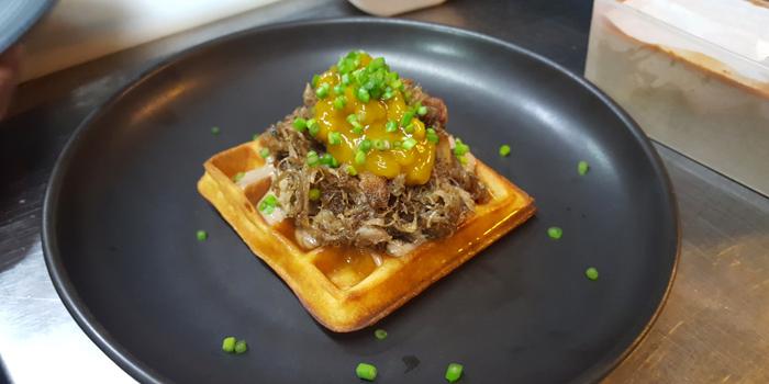 Duck Confit Waffle from Viva Market Thonglor at 387 Sukhumvit Road Khlong Tan Nuea Wattana, Bangkok