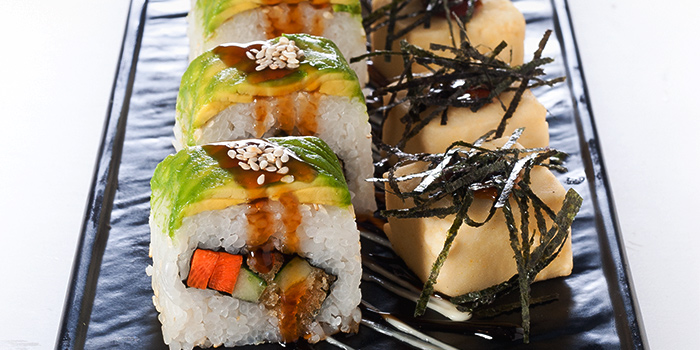 Tempura Tofu with Avocado Roll from Elemen @ HarbourFront Centre in Harbourfront, Singapore