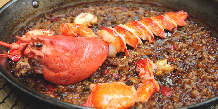 Lobster Paella from La Ventana in Dempsey, Singapore