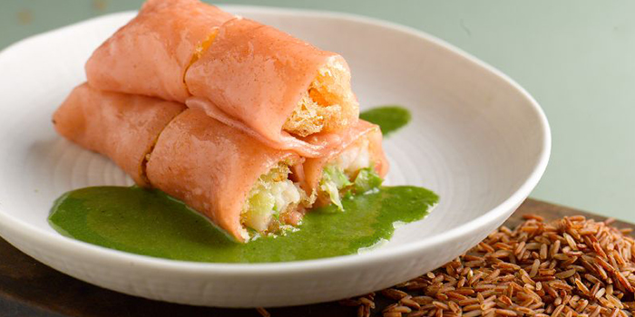 Brown Rice Prawn Rolls from Majestic Restaurant in Marina One in Marina Bay, Singapore