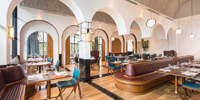 Interior of Origin Grill & Bar at Shangri-La Hotel in Orchard, Singapore