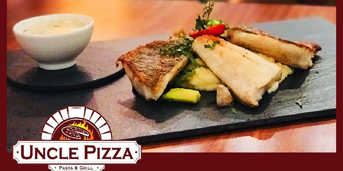 Oven Roasted Sea Bass fillet with Truffle Cream, Uncle Pizza, Pasta & Grill, Central, Hong Kong