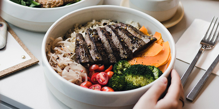 Roasted Beef Lunch Bowl from Pickleville in Raffles Place, Singapore