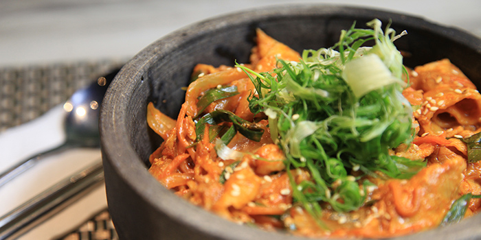 Rice in Stone with Kimchi, JK Brother