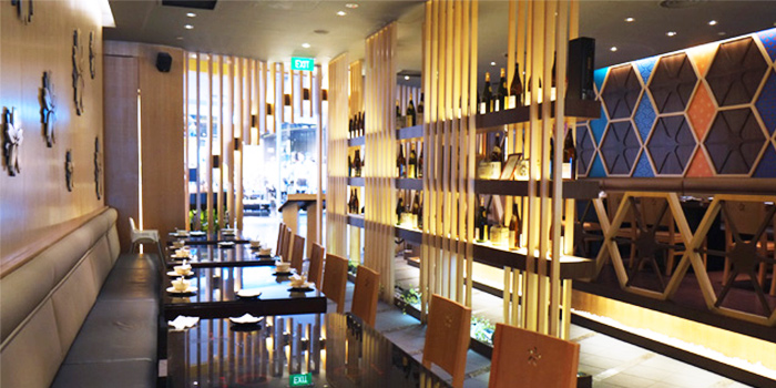 Interior of Shabuya and Shochu Bar at Vivocity in Harbourfront, Singapore