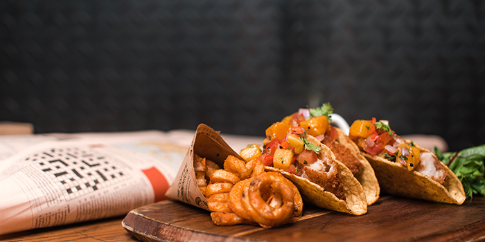 Signature Fish Tacos, The Coffee Academics, Wan Chai, Hong Kong