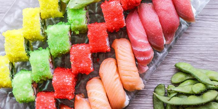 Sushi-selection from Mistral Restaurant at Pullman Bangkok Hotel G 37th Floor, 188 Silom Rd, Bangrak, Bangkok