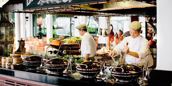 The Open Kitchen from Riverside Terrace at Anantara Riverside Bangkok Resort 257/1-2 Thonburi, Bangkok