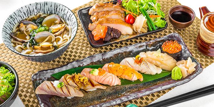 Aburi Sushi Set from Yamazaki Japanese Restaurant in One Fullerton in Raffles Place, Singapore