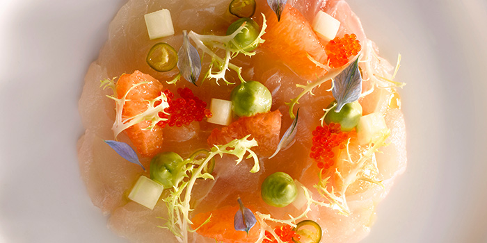 Cured Sea Bream from Brasserie Les Saveurs at St. Regis Singapore in Tanglin, Singapore
