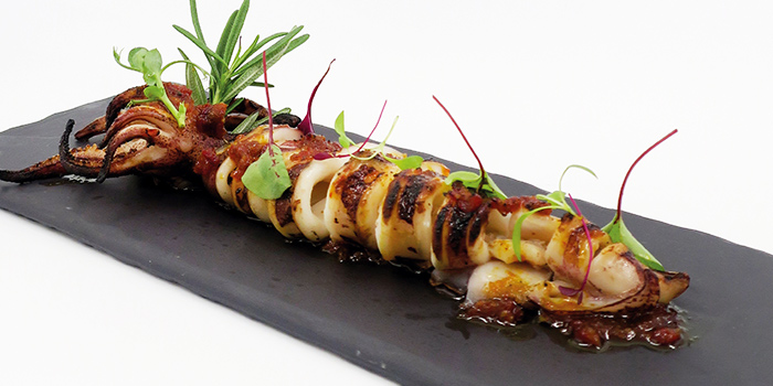 Grilled Hokkaido Squid from Kuvo in Orchard, Singapore