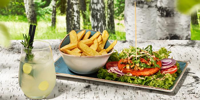 Vegan Burger ABENDMAHLKUTSCHER from Hans Im Gluck German Burgergrill in Orchard, Singapore