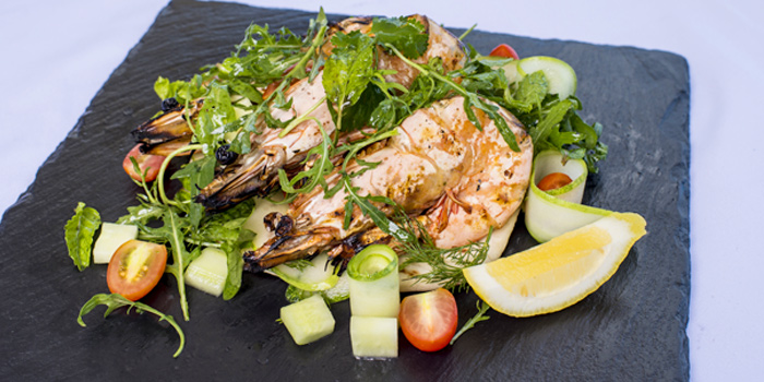 Andaman-jumbo-tiger-prawns from Cosmo in Nai Harn, Phuket, Thailand.