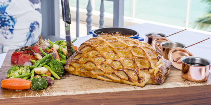 Australian-beef-wellington-for-2-to-share from Cosmo in Nai Harn, Phuket, Thailand.